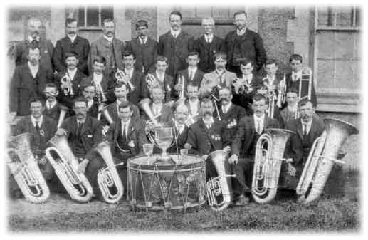 The Band with a trophy in 1912