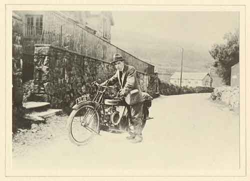 T.H. Parry Williams and his motorbike