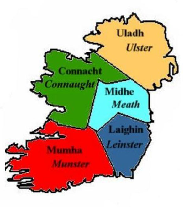 The Five Provinces of Ireland